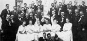 Der kath. Gesellenverein Höchstädt 1922 bei der Fahnenweihe